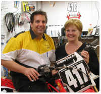 Bob and Sue in the BC Racing Shop